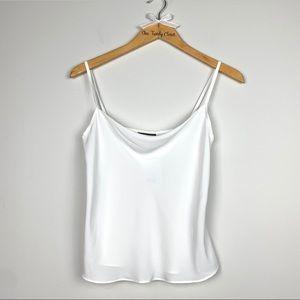 TopShop   NWT Cami Top White Cowl Neck Blouse SZ 2